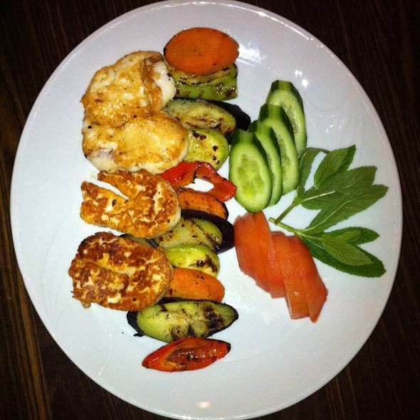 Grilled Halloumi And Vegetables @ FİNCAN