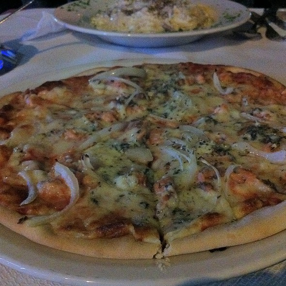 Pizza Al Salmone @ Tre Angeli