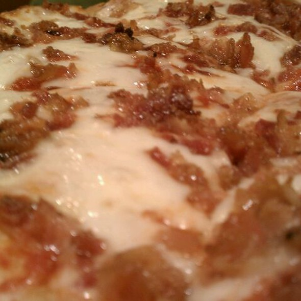Cheese Pizza With Bacon