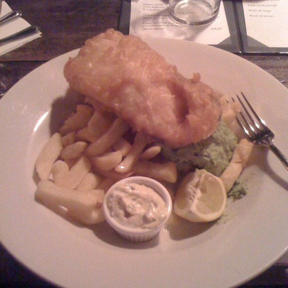 Fish (cod) & Chips - The Water Poet, London