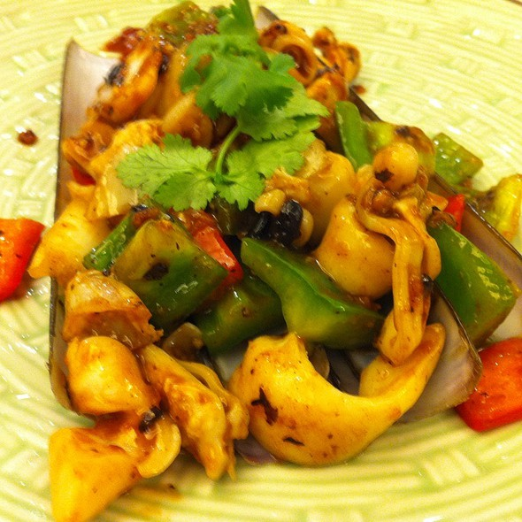 Fried Razor Clams With Black Bean Sauce @ Loaf On