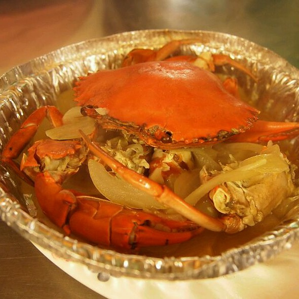 Grilled Crab With Butter And Onion @ 基隆廟口