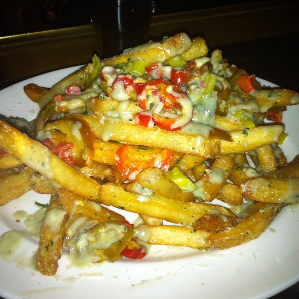 Truffle Fries With Blue Cheese And Hot Cherry Peppers @ The Capital Grille