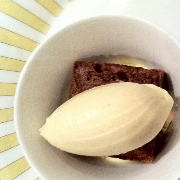 Mocha And Hazelnut Trifle With White Coffee Ice Cream @ Dessert Club ChikaLicious
