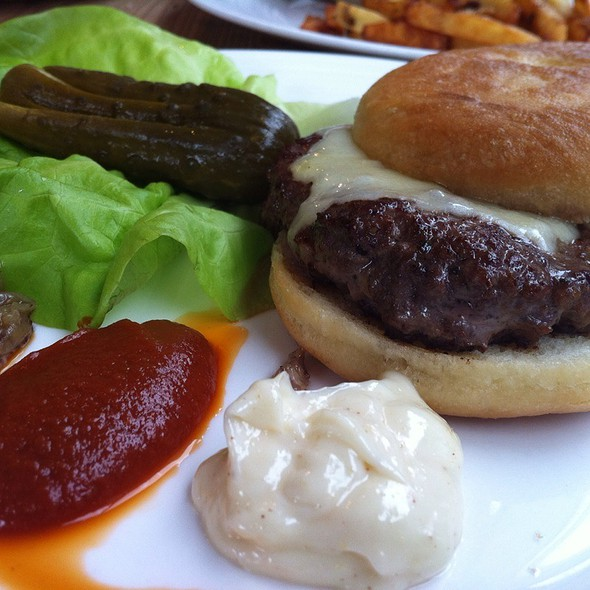 Jk Cheese Burger With House Pickle @ Gilead Cafe & Bistro