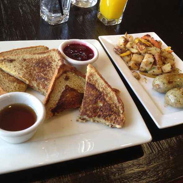 French Toast W/Chicken Sauage Potatoes  @ Wild Rocket