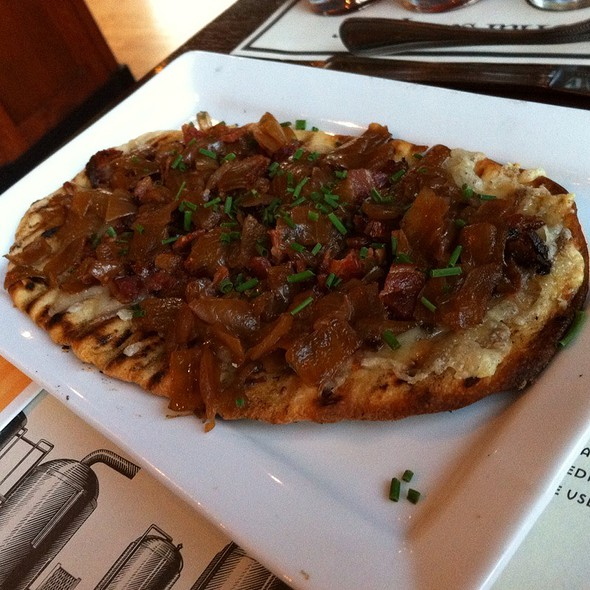 Grilled Alsatian Flatbread - Iron Hill Brewery - Media, Media, PA