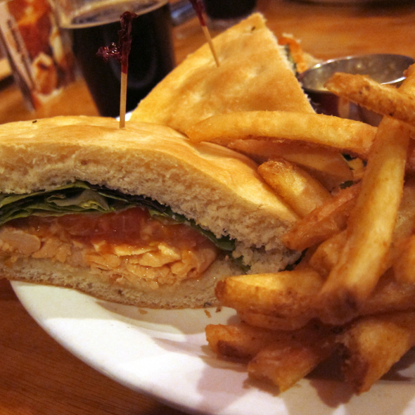 Blackened Salmon Sandwich at Rooster's