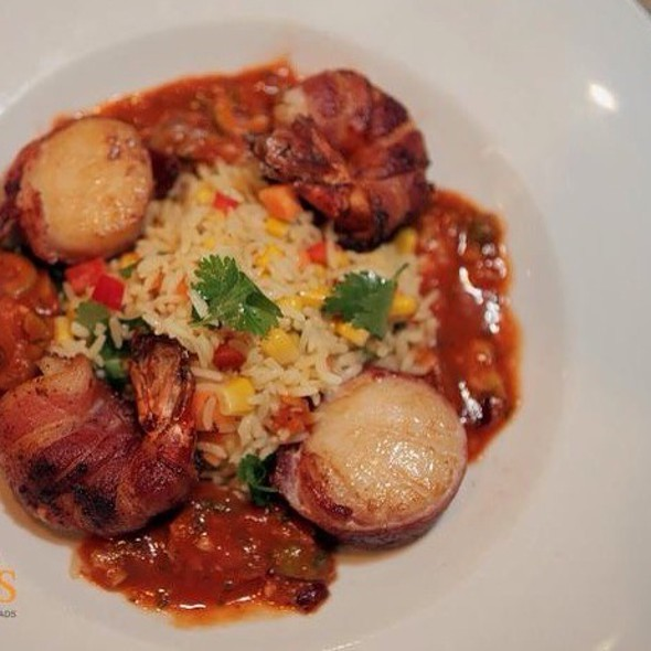 Bacon Wrapped Shrimp With Scallops - Geske's Fire Grill, El Paso, TX