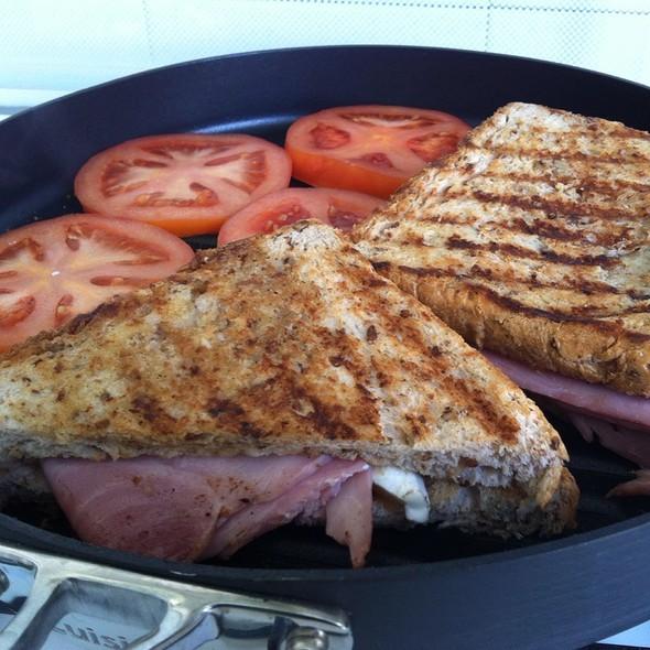 Cast Iron Grilled Brie Cheese & Smithfield Ham Sandwich @ My Shanghai Home
