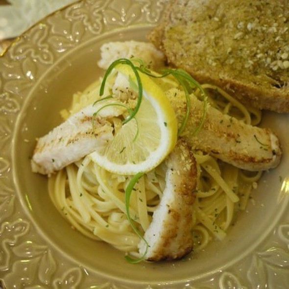 Leek & Saffron Cream With Fillet Of Cream Dory @ Cafe Mary Grace