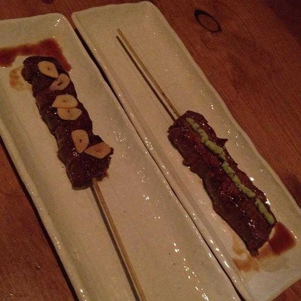 Kobe Beef With Garlic And Wasabi @ Aburiya Raku Restaurant