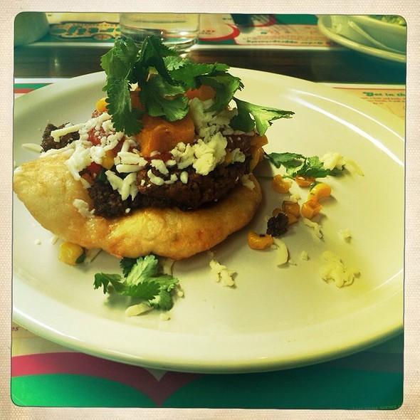 Goat Taco With Sweet Potatoes On Navajo Bread @ El Cortijo Taqueria Y Cantina
