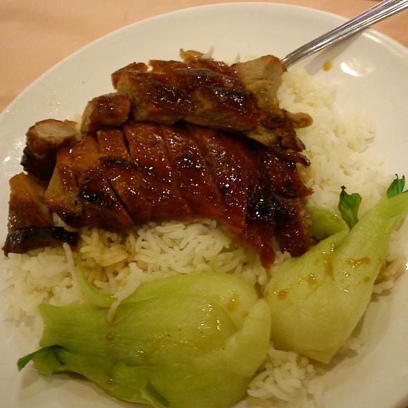 Honey Barbequed Pork on Rice @ golden dragon