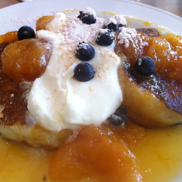 Ricotta Pancakes w/blueberries @ Smoke Restaurant