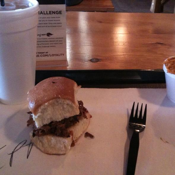 BBQ Sliders @ 4 Rivers Smokehouse