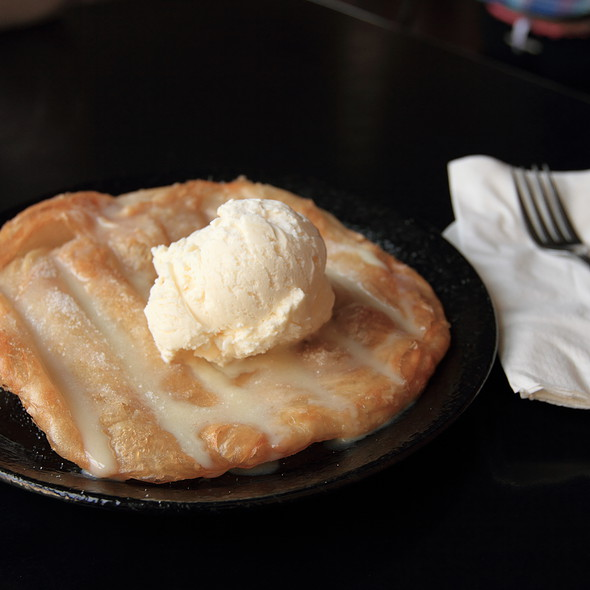 roti with coconut ice cream @ Thai House Express