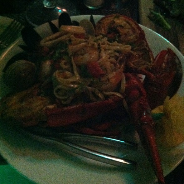 mixed seafood platter - The Pelican Cafe, Miami Beach, FL