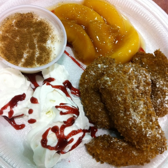 Fried Peaches And Cream @ State Fair Of Texas