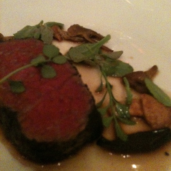 Beef Crusted In Lichen, Wild Mushrooms, Coastal Greens, Bordelaise Infused With Native California Spices - McCrady's Tavern, Charleston, SC