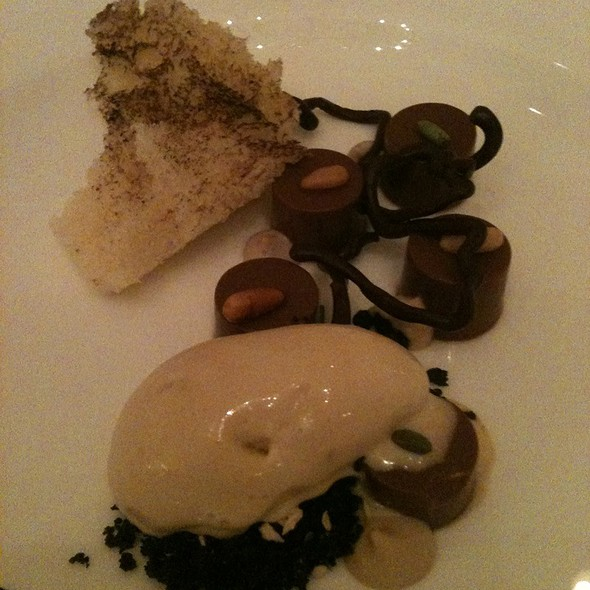 Dark Chocolate, Wadmalaw Pine, Malted Milk, Barley - McCrady's Tavern, Charleston, SC