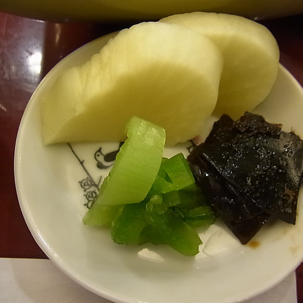 Pickles @ そば処 柴崎 (Shibasaki)