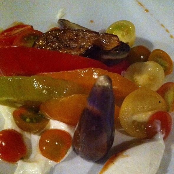 Heirloom Tomatoes, Fairytale Eggplant, Housemade Ricotta