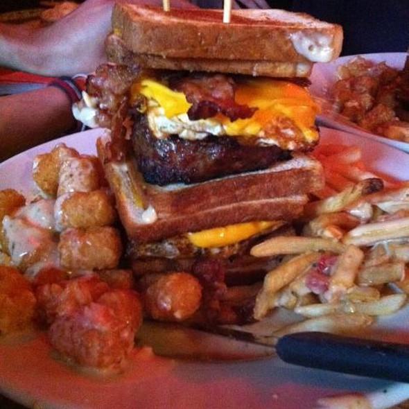 Triple Coronary Bypass Burger @ Vortex Bar & Grill