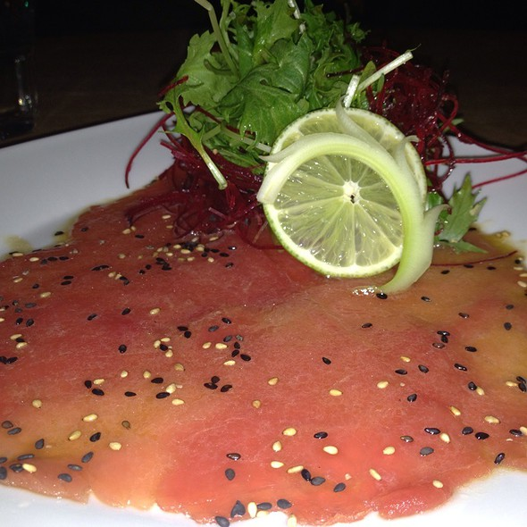 Tuna Carpaccio @ Tsunami Mission Bay