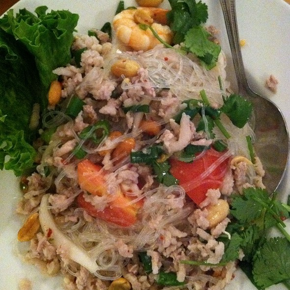 Superior Spicy Glass Noodle Salad At Thai Patio Hollywood