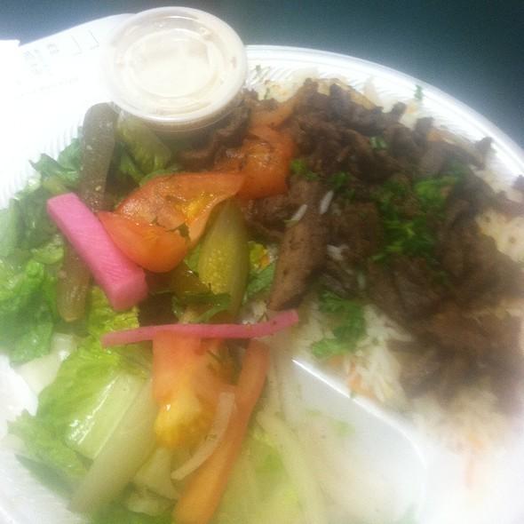 Beef Shawarma Platter @ Safier Mediterranean Deli