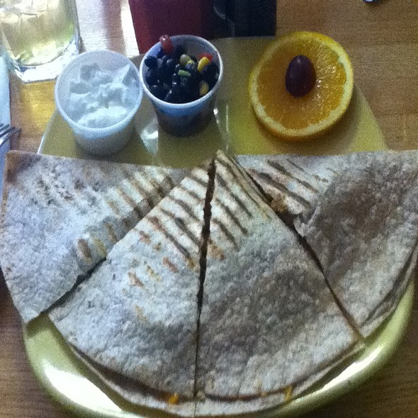 Chicken Breast Quesadilla @ Good Eatz Green Cafe