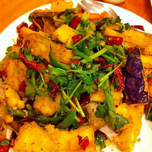 Fried Eggplant @ Lao Hunan