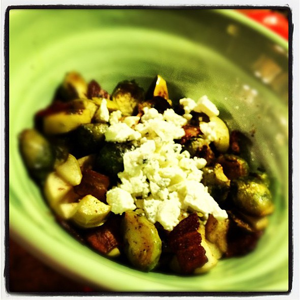brussel sprouts, apples & bacon with gorgonzola @ Haus Von KünWinkel