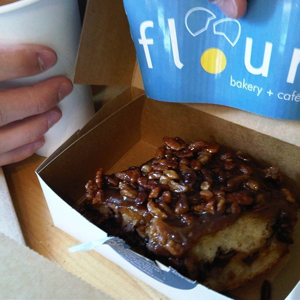 Sticky bun @ Flour Bakery & Cafe