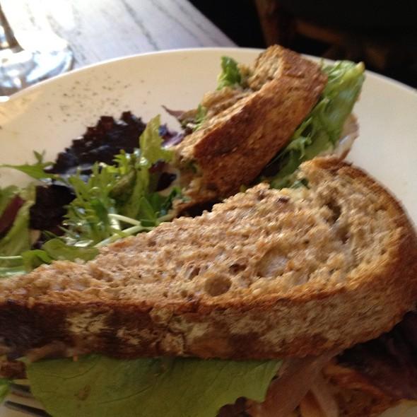 Marinated Tofu Sandwich @ smooch organic cafe & wine bar