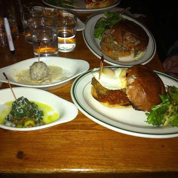 Beef Meatball Smash @ The Meatball Shop