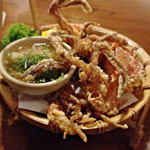 Deep fried soft shell crab @ Aizomê