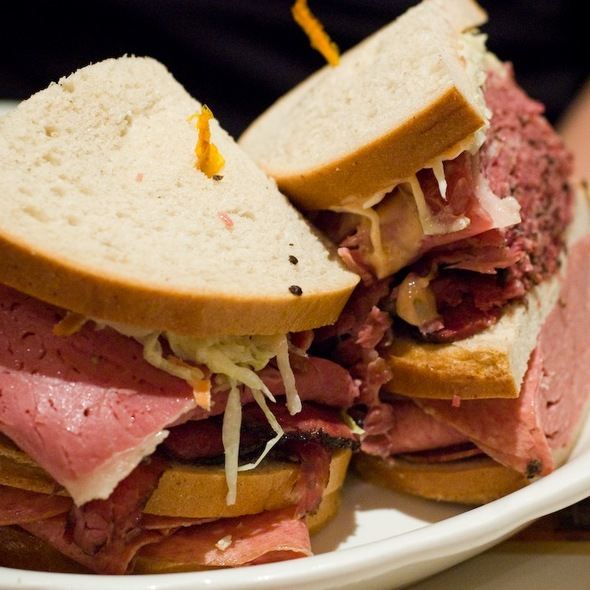 Pastrami, Corned Beef, Salami 3-Decker Sandwich @ 2nd Ave Deli