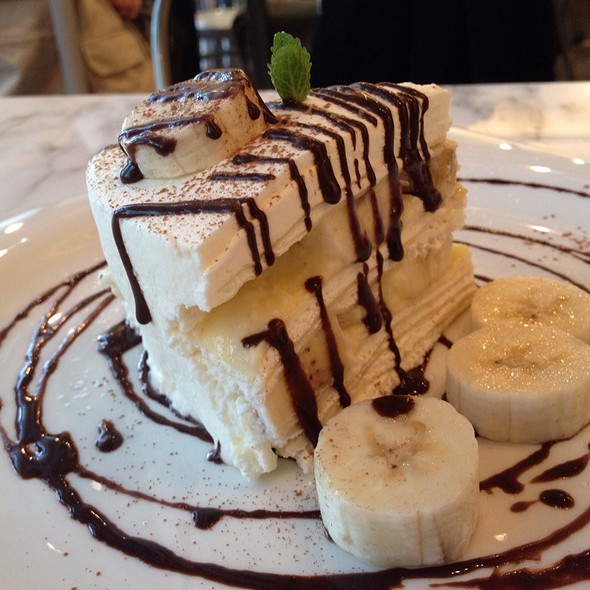 Banana Chocolate Crepe Cake @ Greyhound Cafe
