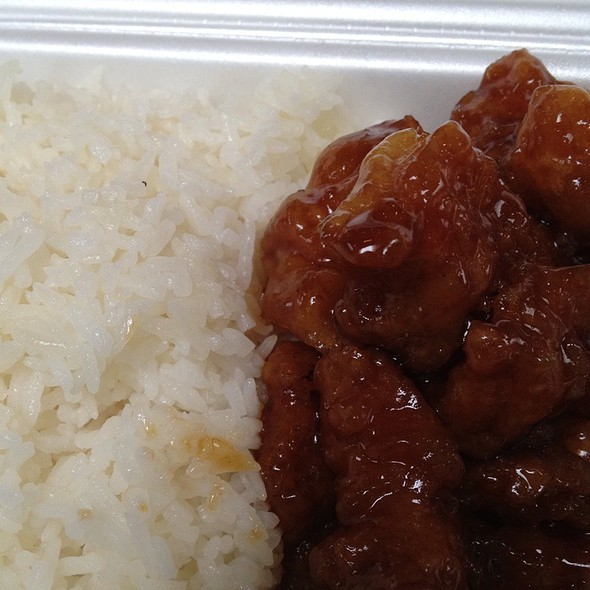 Sesamea Chicken And White Rice @ Little Tokyo