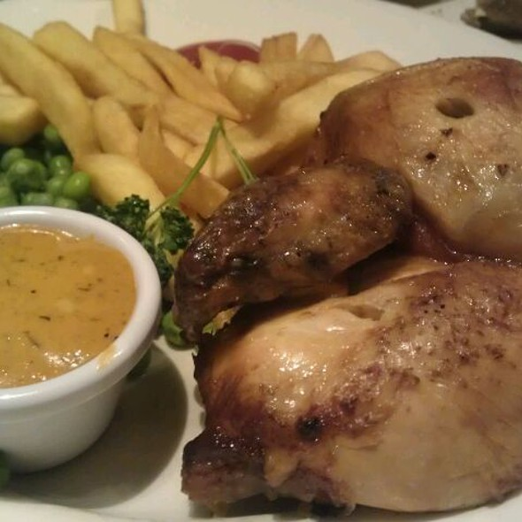 Original Spit Roast 1/2 Chicken with Cajun Dip @ Harvester