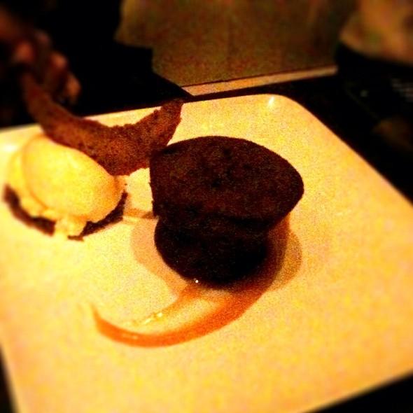 Warm Chocolate Cake With Miso Mocha
