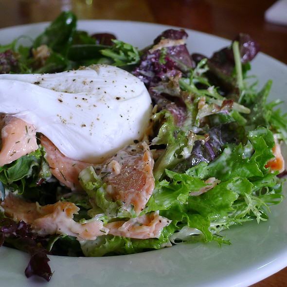 Smoked Trout Salad with Soft Poached Egg and Dill Mayonnaise @ Cafe Sopra @ Fratelli Fresh