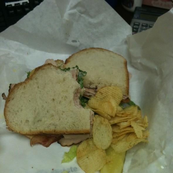 Turkey Club Sandwich @ Woodland Party Store