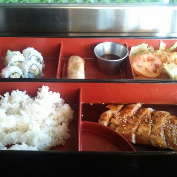 #3 Bento Box Lunch - Tachi Chicken & Tempura - Gekko Sushi - Atlanta, Atlanta, GA