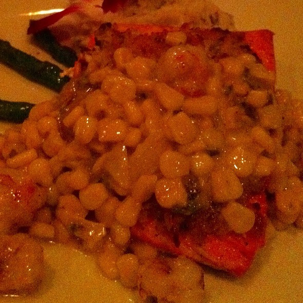 Salmon With Corn Sauce - The Farmhouse at Turkey Hill, Bloomsburg, PA