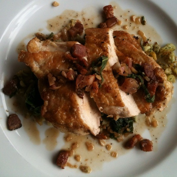 Roasted Chicken With Spaetzle And Spinach - Spruce Farm & Fish, Boulder, CO