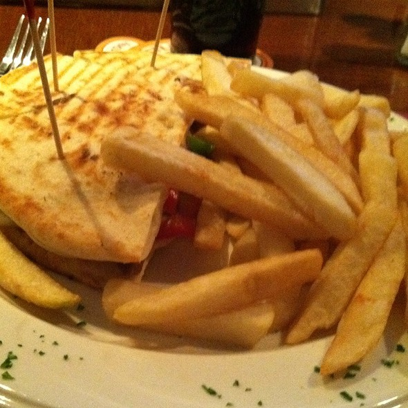 Steak Panini & Fries @ Coliseum Bar & Restaurant The