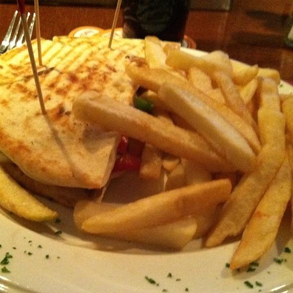 Steak Panini & Fries @ Coliseum Bar & Restaurant The